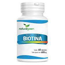 Vitamina B7 (Biotina) - 60 Cápsulas de 600mg - Natural Green