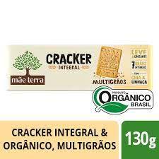 Cracker Integral Orgânico MultiGrãos - 130g - Mãe Terra