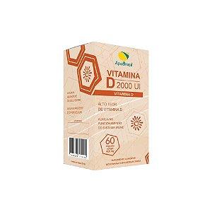Vitamina D 2000 Ui Capsulas 60x430mg Apis Brasil