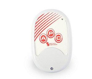 Controle Remoto com 3 botões para central de alarme e choque GCP SS100