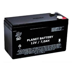 Bateria Selada 12v 7 Amperes para Centrais de Alarme e Choque