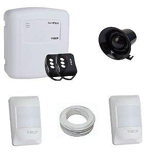 Kit Basic Sistema de Alarme com 2 Sensores de Presença Com Fio- ECP