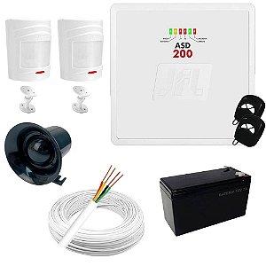 Kit Alarme Residencial / Comercial com 2 Sensores de Presença sem fio