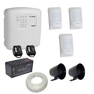 Kit Alarme Residencial / Comercial ECP com Discadora Telefônica e 3 Sensores Com Fio