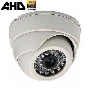 Câmera de Vigilância Infravermelho AHD-M 1.0 Megapixel 720P Dome Branca
