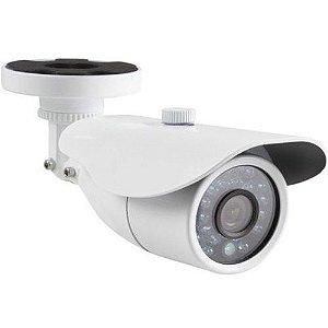 Câmera de Segurança Infravermelho 30 Metros Ccd Analógica 800 Linhas Lente 3.6mm- Ircut Branca
