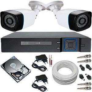 Kit 2 Câmeras Anko 1.3 Megapixel 720p Infravermelho + DVR 4 Canais Acesso P2p