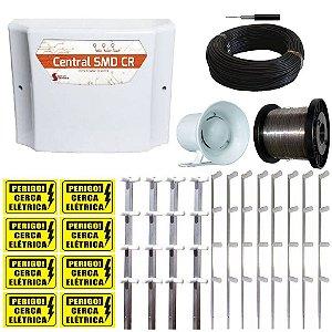 Kit Cerca Elétrica para 80 Metros de Muro 10.000V- Cerca Eletrificada