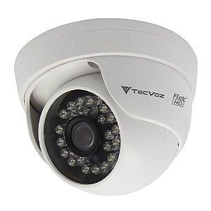 Câmera de Segurança Dome Tecvoz HD 1.0 Megapixel 720p 24 Leds de Infravermelho.