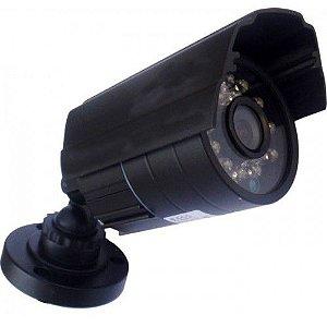 Câmera de segurança analógica com 24 leds infravermelhos, 1000 Linhas de Resolução.