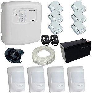 Kit de Alarme com 1 Central de Alarme Alard Max ECP com Discadora + 10 sensores