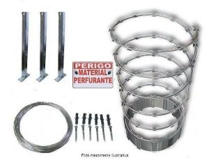 Concertina Espiral de Aço Galvanizado para 10 Metros Lineares - Kit Completo