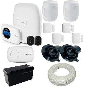 Kit de Alarme Intelbras 1 Central monitorada com Discadora + 6 Sensores sem fio