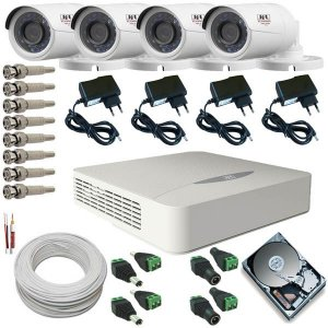 Kit JFL 4 Câmeras de Segurança AHD 1.0 Megapixel + DVR Stand Alone 4 em 1
