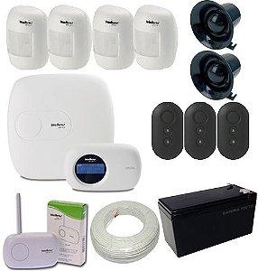 Kit de Alarme Intelbras 1 Central AMT 2018 EG Com Discadora + 4 Sensores IVP 2000 SF