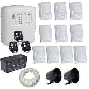 Kit de Alarme ECP Central Alard Max 1 Com Discadora 10 Sensores Sem Fio