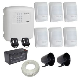 Kit de Alarme ECP Central Alard Max 1 Com Discadora 6 Sensores Infravermelho