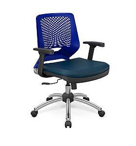Cadeira Giratória Plaxmetal Linha Beezi Base Cromada