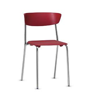 Cadeira Bit Em Polipropileno 4 Pés Fixa