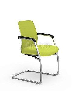 Cadeira Fixa de Aproximação Idea Soft 40106 - Base Prata - Cavaletti