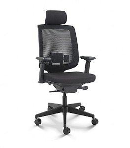 Cadeira Cavaletti Presidente C3 28001 AC Base Nylon - Syncron - Braços 4D