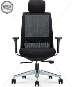 Cadeira Presidente C4 29001 AC - Syncron - Braços 3D - Base Alumínio - Cavaletti