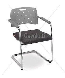 Cadeira Cavaletti Fixa Viva 35007 SE Base Cromada