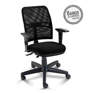 Cadeira Executiva NewNet 16003 SRE - Base Polaina - Braços SL -Certificada NR17- NBR 13962 Cavaletti