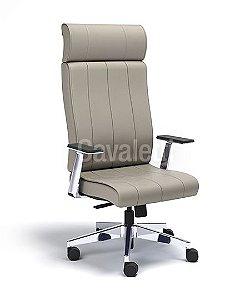 Cadeira Presidente Giratória Essence - Syncron - Braços em Aluminio - Cavaletti 20501