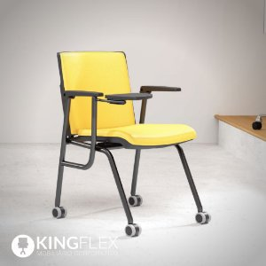 Cadeira Treinamento Com Prancheta Escamoteável Rodízios Audiplax