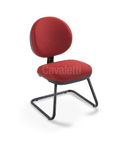 Cadeira Fixa Executiva Stilo 8107 S - Base Preta - Cavaletti