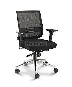 Cadeira Air 27001 - Syncron - Braços 3D - Base Alumínio - Cavaletti