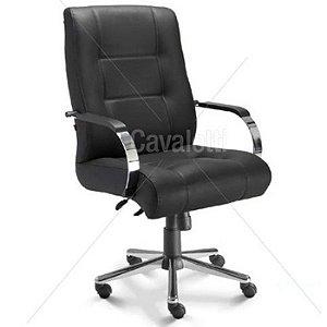 Cadeira para escritório giratória diretor 20103 Extra - Capacidade 140kg - Linha Prime - Cavaletti - Base Cromada