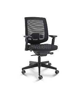 Cadeira Diretor C3 28001 - Base Nylon Syncron - Braços 4D - Cavaletti