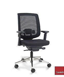 Cadeira Diretor C3 28001 - Base Aluminio Syncron - Braços 4D - Cavaletti