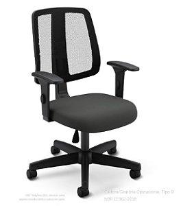 Cadeira Giratória Flip Light 43503 Executiva - Base Polâina - Cavaletti