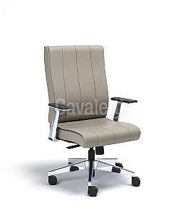 Cadeira Diretor Giratoria Essence - Syncron - Braços em Alumínio - Cavaletti 20502