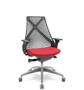 Cadeira Giratória Bix Base Diretor Autocompesador Alumino RDZ55 RPU Plaxmetal