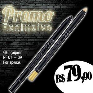 Promo Exclusivo / Gel Eyepencil nº01 / Gel Eyepencil nº09