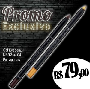 Promo Exclusivo / Gel Eyepencil nº02 / Gel Eyepencil nº04
