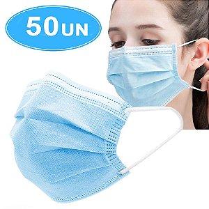 Máscara cirúrgica Descartável 3 camadas esterilizada  - 50 unidades