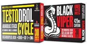 COMBO TESTODROL CYCLE 30 TABS + BLACK VIPER