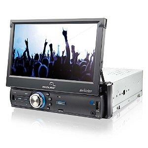 "RADIO RETRÁTIL TELA 7"" TV DIGITAL GPS TOUCH  MULTILASER P3211"