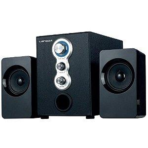 CAIXA DE SOM LD-CS2309 2.1 FM/USB/SD/ AUX. RCA 10W+5WX2 LENDEX BIVOLT