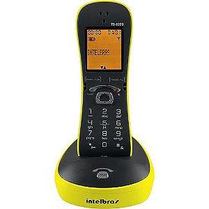 TELEFONE INTELBRAS TS8220 S/FIO AMARELO