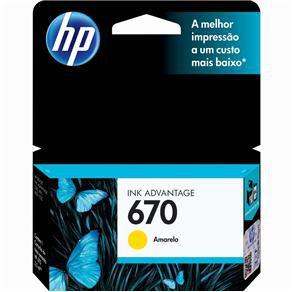 CARTUCHO HP CZ116AB TINTA AMARELO (3,5 ML) HP670