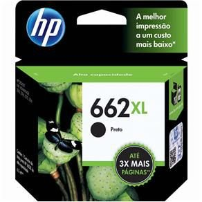 CARTUCHO HP CZ105AB TINTA PRETO (6,5 ML) HP662XL