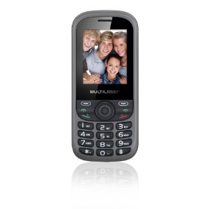 CELULAR MULTILASER UP 3 CHIP QUAD P3274 CAM MP3/4 FM PRETO/CINZA