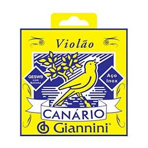 ENCORDOAMENTO P/VIOLAO ACO GESWB C/BOLINHA CANARIO GIANNINI