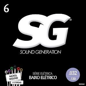 ENCORDOAMENTO P/BAIXO 6 CORDAS (032) - SG5360 SG